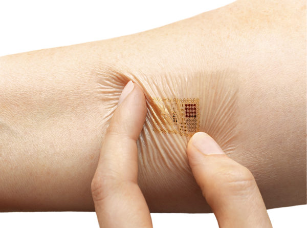 A new approach allows Custom Flexible Electronics to be printed Directly Onto Skin, medical devices, bandages and so on