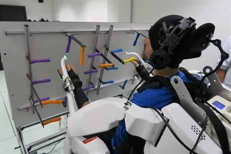 Brain's Commands enable Exoskeleton to perform movements