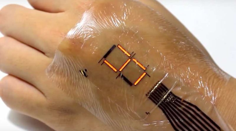 On-Body Flexible Medical Devices get the newly developed Epidermal Display Screens